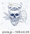 Sketch color skull rastaman 50614139