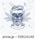 Sketch color skull rastaman 50614140