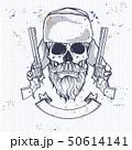 Hand drawn hunter skull 50614141
