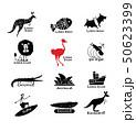 Australia icons set, sketch for your design 50623399