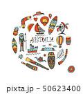 Australia icons set, sketch for your design 50623400