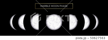 Moon phases of beautiful marble texture 50627563