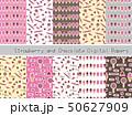 パターン 柄 チョコのイラスト 50627909