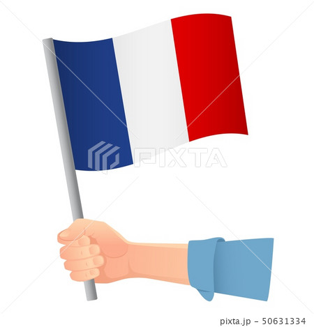 France flag in hand 50631334