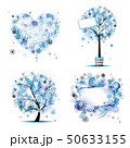 Winter style - tree, frames, heart for your design 50633155
