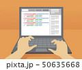 Hands Programmer Laptop Illustration 50635668