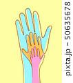 Hands Connected Line Illustration 50635678