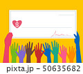 Hands Cheque Donate Illustration 50635682