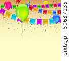 Carnival garland with pennants, confetti and 50637135