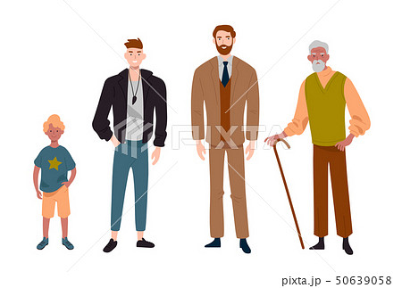 Men. Different ages.Child, teenager, adult and elderly person. Generation of people, family, male 50639058