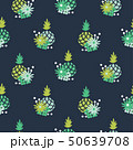 Floral pineapple fabric wallpaper seamless vector print. 50639708