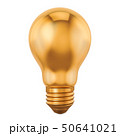 Golden light bulb, idea concept. 3D rendering 50641021