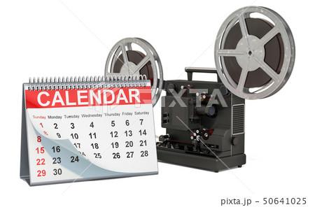 Desk calendar with cinema projector 50641025