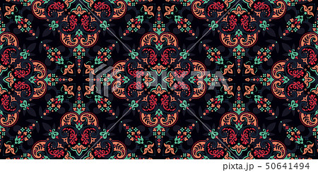 Seamless pattern based on ornament paisley Bandana Print. Vector ornament paisley Bandana Print 50641494