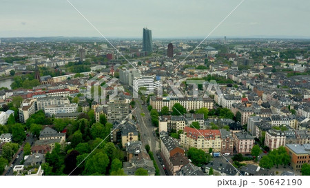 Aerial view of the Sachsenhausen-Nord district of Frankfurt am Main, Germany 50642190