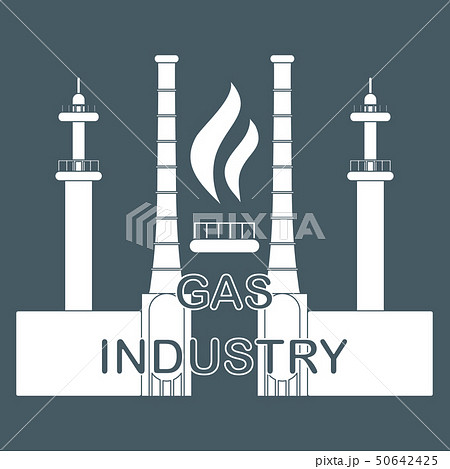 Gas processing plantGas burner with flame. 50642425