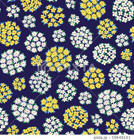 抽象的な花柄, 50649101