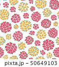 花 植物 花柄のイラスト 50649103
