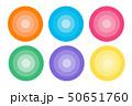 色々なアイコン 丸 タイル グラデーション 50651760