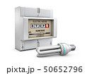 3d Illustration of Electric meter on white background 50652796