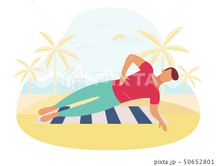 Couple doing plank exercise core workout together outdoors 50652801
