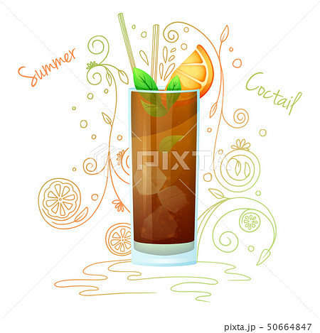 Realistic cocktail on a white background 50664847
