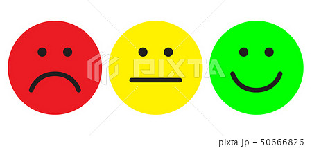 Red, yellow and green smileys 50666826