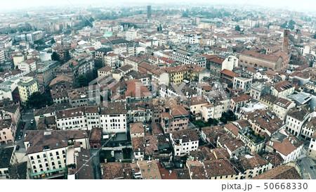 Aerial view of residential houses in Treviso, Italy 50668330
