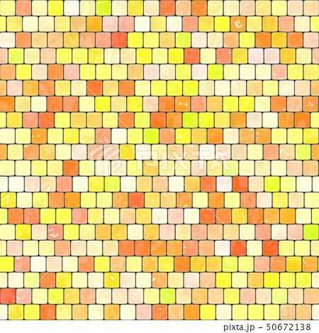 ceramic yellow orange mosaic background seamless texture in swimming pool or kitchen 50672138