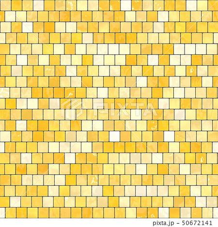 ceramic yellow orange mosaic background seamless texture in swimming pool or kitchen 50672141