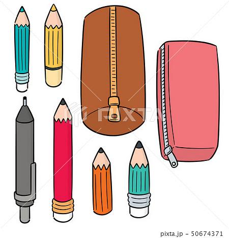 vector set of pencil and pencil case 50674371