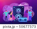 ミュージック 譜面 音楽のイラスト 50677373