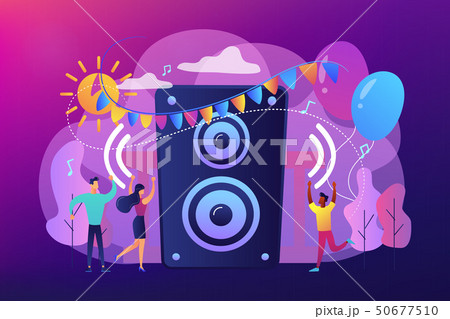 Open air party concept vector illustration. 50677510