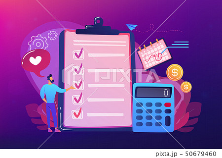 Budget planning concept vector illustration. 50679460