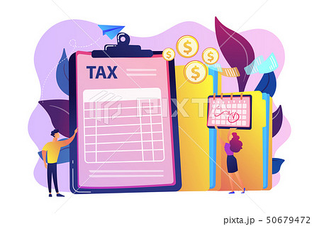 Tax form concept vector illustration. 50679472