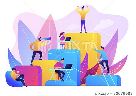Corporate ladder concept vector illustration. 50679985