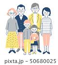 家族 3世代 笑顔のイラスト 50680025