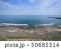 オリンピックサーフィン会場釣ヶ崎海岸付近を空撮 50685314