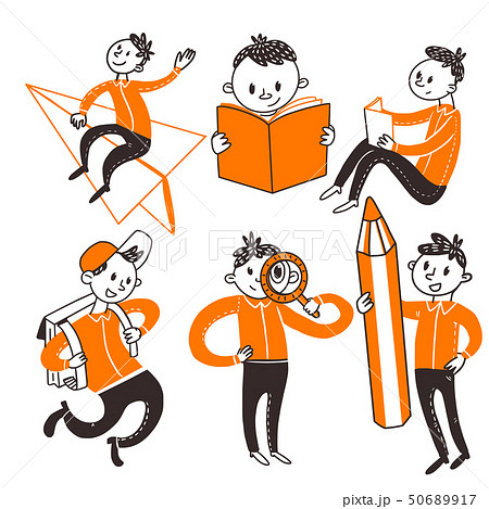 Back to school teenager boys 50689917