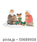 ファミリー 家庭 家族のイラスト 50689938