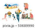 ファミリー 家庭 家族のイラスト 50689990