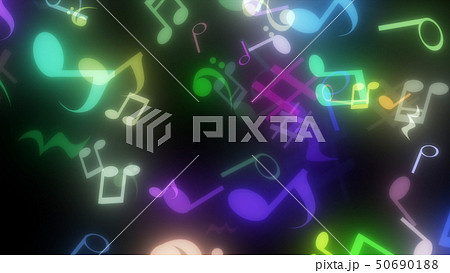 キラキラパーティクルエフェクト 音符 50690188
