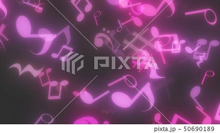 キラキラパーティクルエフェクト 音符 50690189