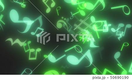 キラキラパーティクルエフェクト 音符 50690190