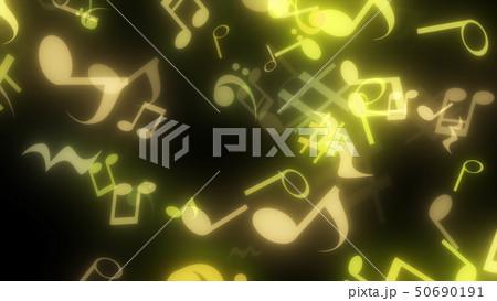 キラキラパーティクルエフェクト 音符 50690191