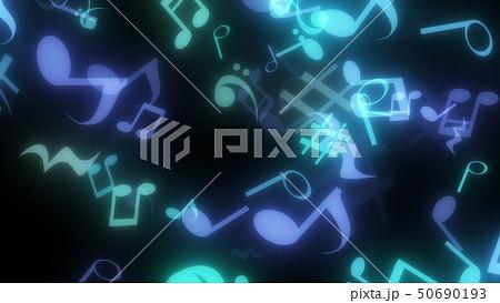 キラキラパーティクルエフェクト 音符 50690193