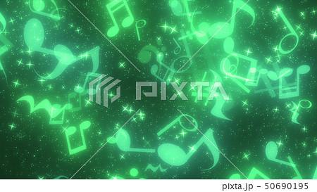 キラキラパーティクルエフェクト 音符 50690195