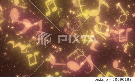 キラキラパーティクルエフェクト 音符 50690198