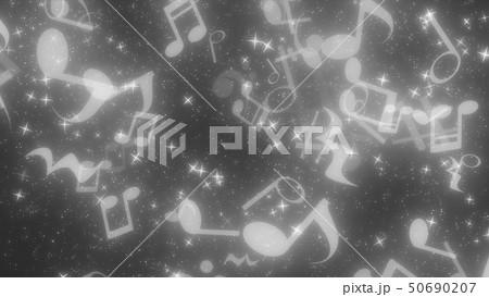 キラキラパーティクルエフェクト 音符 50690207