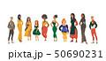 ベクトル 女 女性のイラスト 50690231